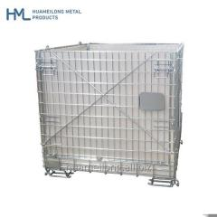 Warehouse foldable stacking storage wire mesh