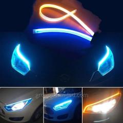 LED daytime running lights white turn signal