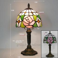 Colored glass table lamp