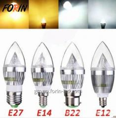 LED lamp candles in the wind transparent  7W E14