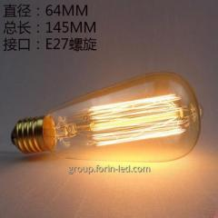 incandescent filament decorative warm white  C35 G45 T30 ST64 A60 G80 G95 G125 E27 3000K