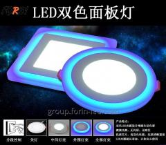 Ceiling lamp panel two-color LED 4000K 2700K 3W 6W 12W 18W