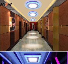 LED светильник панель  двухцветный  белый  D105