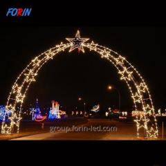 LED arch design with stars