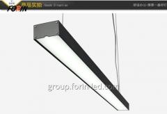 Linear LED Downlights Black 36W