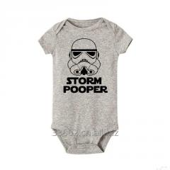 Хлопковый боди Storm Pooper для младенцев, размер