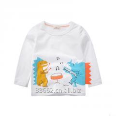 Детская хлопковая футболка с длинным рукавом для