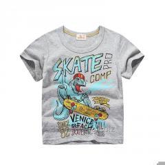 Детская хлопковая футболка с принтом для