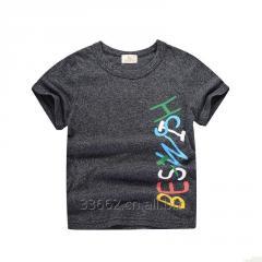 Детская хлопковая футболка для мальчиков, размер