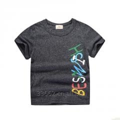 Children's short sleeve cotton T-shirt, size 90