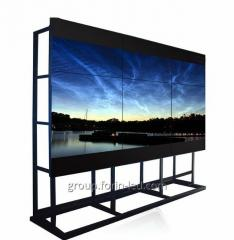 55 inch Media advertisements exhibition splicing screen lcd video walll  3x2m