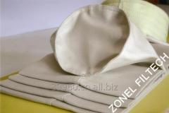 Fiber glass filter fabric and filter bags for dust
