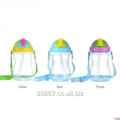 350ml Kids Water Bottle With Strap and Straw BPA