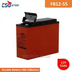 CSBattery 12V 55Ah rechargeable AGM Battery for