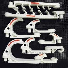 White color plastic hooking for hanging...