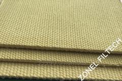 Para-aramid air slide fabric or filter belt