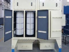 Вертикальная установка картриджного пылесборника,