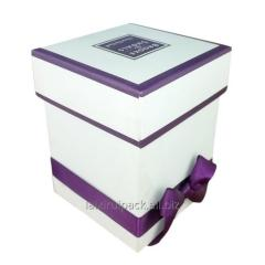 Custom printing Square shape white jewelry box
