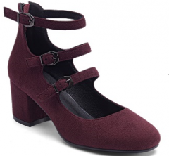 Women high heel shoes with rose color