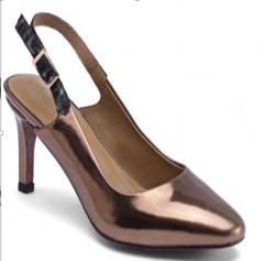 High heel shoes with heel exposed design