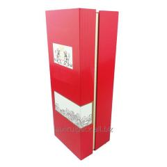 RED rectangular packaging paper box with lid and