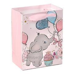Custom printing elephant decorative gift bag...