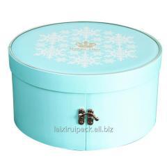 Custom round shaped  luxury  gift candy box...