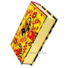 Custom printing book shape flip lid paper storage