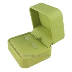 Clam shell Luxury Avocado color  leatherette