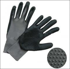 PU Foam coated gloves-5256NYAFD