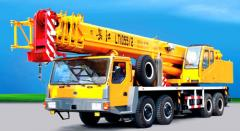 Cranes on the chassis of the raised passableness