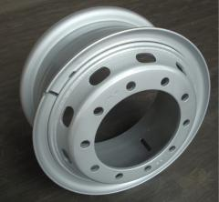 Tube steel wheel rin 8.00V-20