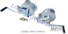 Winches, windlasses, hand operated