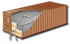Containers for transport of liquid cargo (flexitanks)