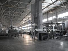 Equipment for manufacturing  gypsum-pasteboard