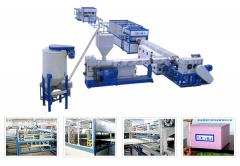 The equipment for manufacture of products from