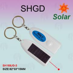 椭圆形太阳能激光灯手电筒