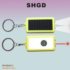 指南针太阳能激光灯
