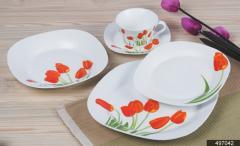 "DECAL NO.:497042  餐具 陶瓷 12PCS 茶具 18PCS餐具 41PCS餐具 dinner set tea set 7.5""flat plate 8""soup plate 9"" flat plate 10.5""flat plate 5""footed bowl 4.5""footed bowl 650ml 600ml tea pot sugar pot 310ml mug 3pcs candy set 10""oval plate 12""oval plate"