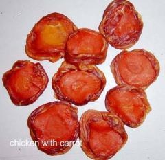 Chicken Jerky wraps Carrots