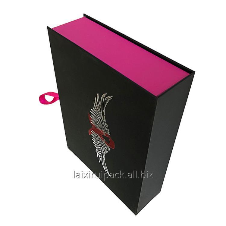 luxury_black_and_pink_square_shape_false_nail