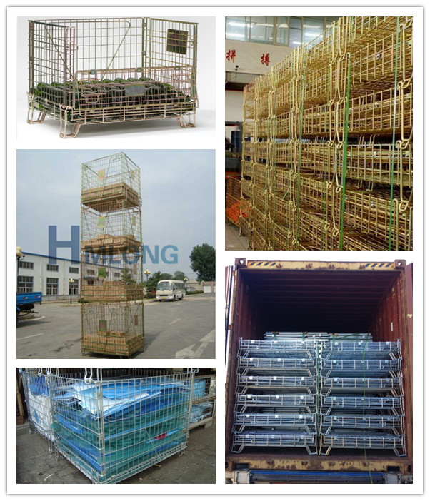 f_16_high_quality_warehouse_folding_wire_mesh_cage