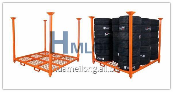 hml_7272wm_heavy_duty_folded_metal_tire_storage