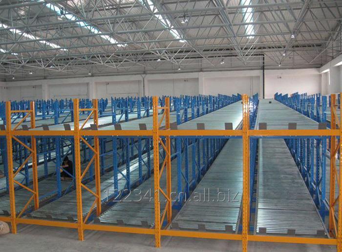warehouse_gravity_storage_slide_rail_rack