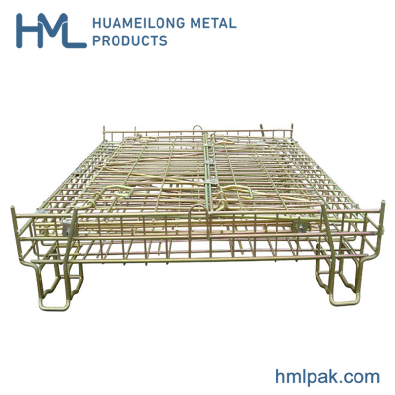 european_stackable_collapsible_steel_wire_mesh