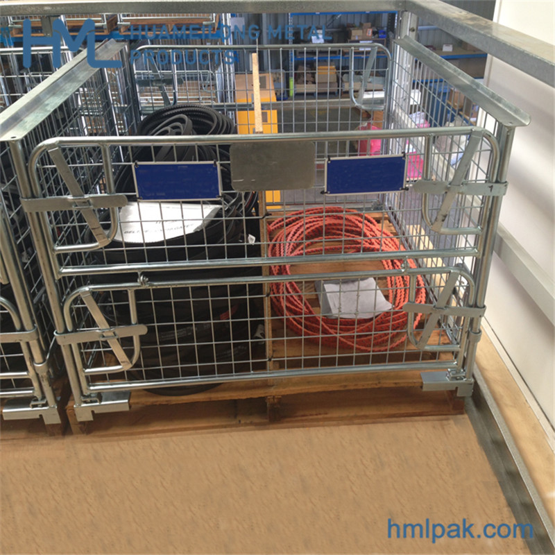 stacking_warehouse_powder_coated_wire_mesh_pallet