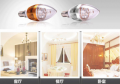 LED lamp candles in the wind transparent  E14 220V 2700K