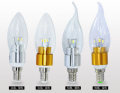 LED lamp candles in the wind frosted factory  E14 220V 2700K China factory