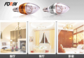 LED lamp candles in the wind transparent  10W E14 220V 2700K China factory