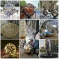 City tracery sculpture custom-made balls in China factory